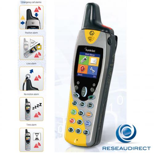 Funktel FC4 S EX SET Kit Téléphone DECT ATEX industriel durci IP65 norme GAP PTI 8 alarmes Géolocalisation DSS Ref 5.010.870.100