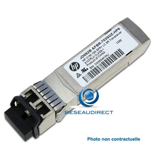 HP-3Com X130 Module original transceiver SFP+ 10GE 10GBase-ER JG234A 10Gigabit Monomode 1550nm 40 km 2xLC