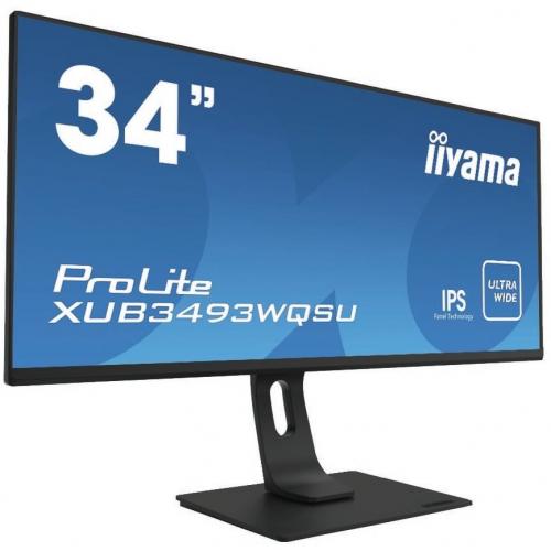 iiyama Prolite XUB3493WQSU Écran moniteur 34 pouces IPS ultra-large avec un pied ajustable en hauteur(21:9)2xHDMI 1 DP