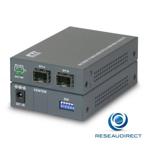 KTI KGC-311-N Bridge Convertisseur Fast et Gigabit Ethernet SFP 100/1000Mbs vers SFP 100/1000Mbs