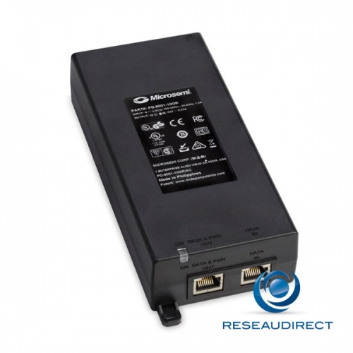 Microsemi PD-9001-10GR/AC Injecteur 1 port 10 Gigabit/s 10GbaseT RJ45 30 watts Midspan POE+ 802.3at mono-port 220V