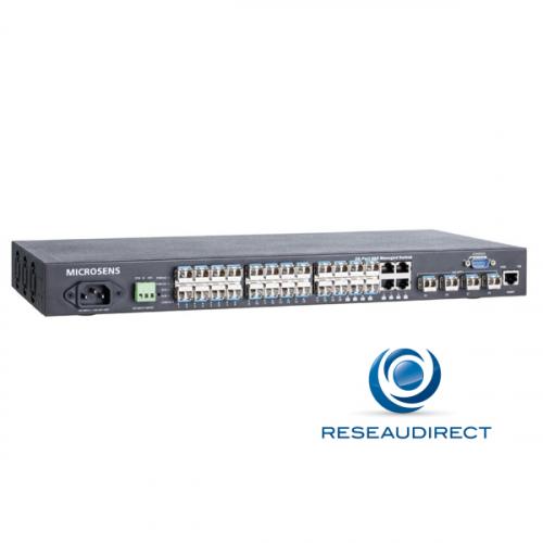 Microsens MS400860M Switch FTTO 19P 28 ports L2+ 20 x SFP 100-X/1000-X 4 x combos RJ45-SFP 4 x SFP+ 10 Giga 220V / 48VDC