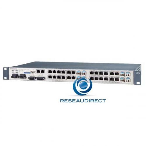Microsens MS400890MX-V2 Switch indus 19P L2+ Ring 16x1000Base-T POE 8xcombos RJ45-SFP 100-X/1000-X double alim 48VDC -40/+75°C