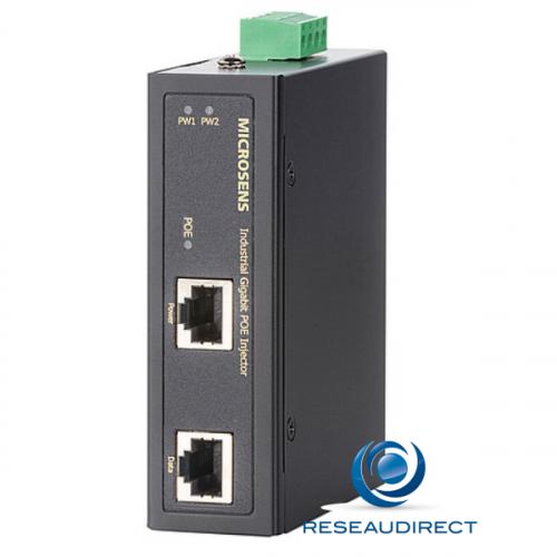 Microsens MS657033X injecteur industriel HI-PoE POE++ 90-95W rail DIN max. 36W à 56V DC voltage 44 à 56 VDC redondant -40/+75°C