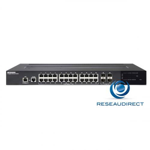 Microsens MS400981M switch POE+ 48VDC face avant