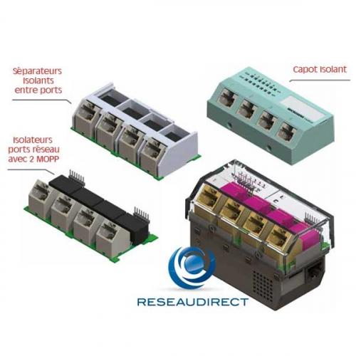 Microsens MS445209M-G6+ micro-switch médical IEC/EN 60601-1 Ethernet 45x45 4xRJ45 1G 1xSFP 100/1000Mbs SD Card RS232 horizontal 230 VAC