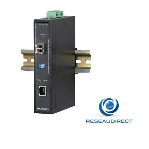 Microsens MS655099X convertisseur Bridge Industriel rail DIN Rj45 100/1000baseT Slot SFP Gigabit 1000X -40/+75°C