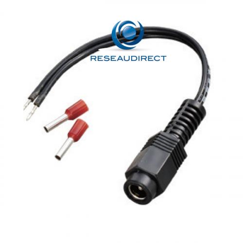 Moxa MXACBL-PJTB-10 Kit câble fils nus vers prise jack coaxiale avec cosse d'isolation longueur 10cm
