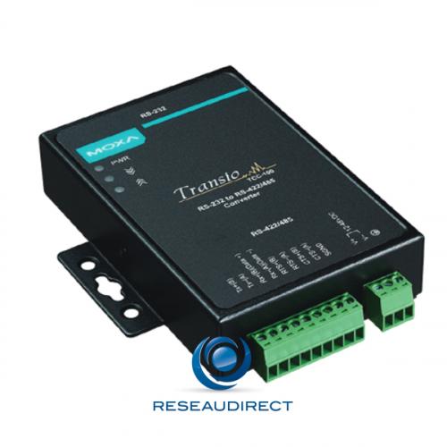 Moxa TCC-100 convertisseur de port série industriel RS232 9pts F vers RS422/485 9pts rail DIN ou mural 12/48VDC -20/+60°C