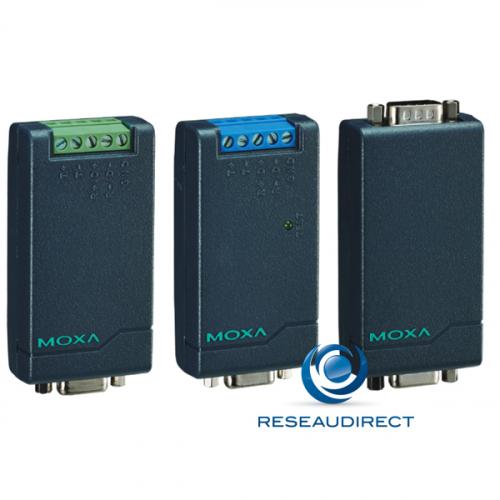 Moxa TCC-80I convertisseur port série RS232 9pts F vers RS422/485 TB isolation 2.5 kV alim électrique interne/externe USB