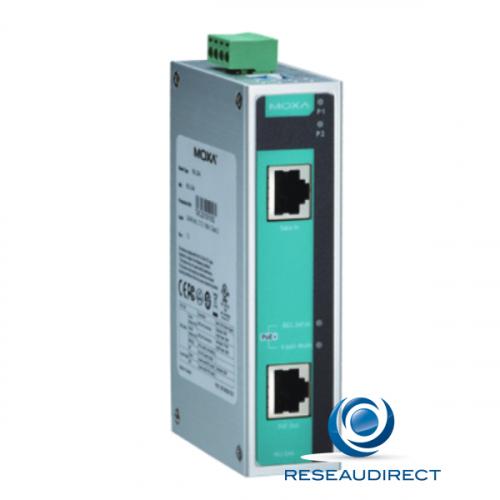 Moxa INJ-24A injecteur industriel POE++ 60W rail DIN max. 24W à 48V DC voltage 22 à 57 VDC redondant 0/+60°C