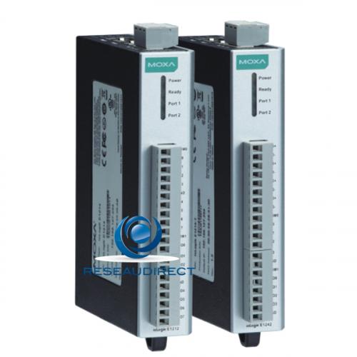 Moxa IoLogik E1210 serveur entrées-sorties IP 2 RJ45 pour châinage rail DIN 16 Entrées Digitales Digital Input
