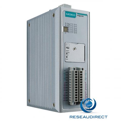 Moxa IoLogik 2542 serveur E/S distant sur IP rail DIN 4 Entrées analogiques 12 Entrées-sorties numériques Click and Go Plus