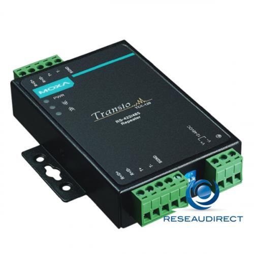 Moxa TCC-120 répéteur de port série industriel RS422/485 TB Vis rail DIN ou mural 12/48VDC -20/+60°C