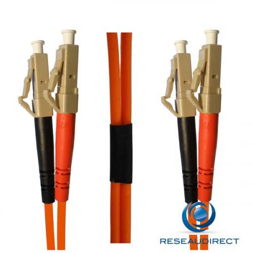 Netkea NTK50LC.LC.001 Jarretière OM2 LC-PC / LC-PC Bi-fibre optique Scindex 2.8 mm Multimode 50/125  Lg=01 m