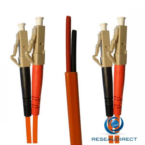 Netkea NTK62LC.LC.001S Jarretière OM1 LC-PC / LC-PC Bi-fibre optique SURGAINEE 2.8 mm Multimode 62.5/125  Lg=01 m