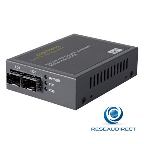 Netkea NTK-CSFP+-SFP+ Répéteur Convertisseur 10 gigabit Ethernet Multimode Monomode SFP+ 10 Gbs vers SFP+ 10 Gbs
