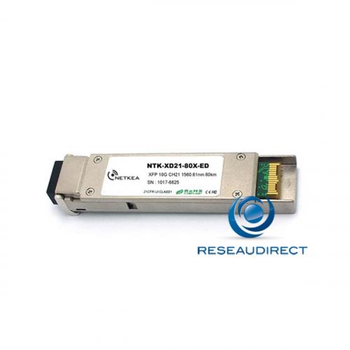 Netkea NTK-XD30-80X-ED XFP DWDM Canal 30 10Gb/s Mono-mode Fréquence 193.0Thz 1553.33nm 24dB 80km 2xLC DDMI -40/+85°C