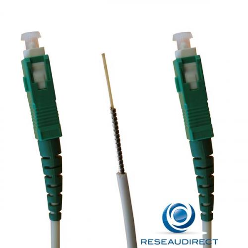 BBox Bouygues NTK09ASCASCA003 jarretière modem optique ARMEE Mono-mode 9/125 Blanche G657a SC/APC- SC/APC Lg=03m