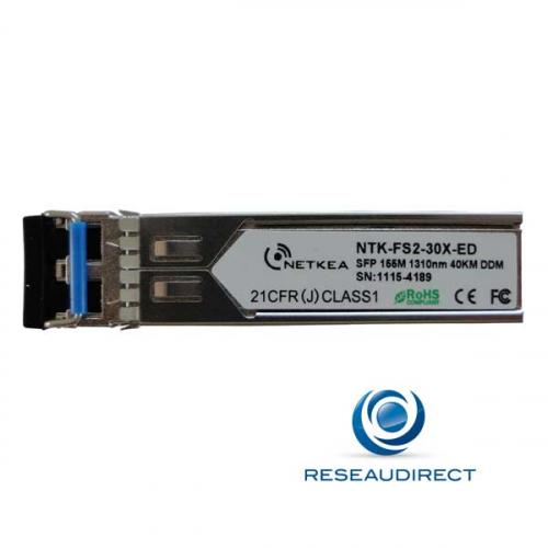 Netkea NTK-FS2-30X-ED Module SFP FE 100Mbs Monomode 1300nm 40Km budget 21dBm 2xLC DOM -40/+85°C