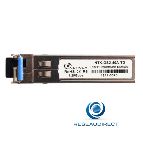 Netkea ALL-GS2-40A-TD SFP BIDI Allied Telesis AT-SPBD40-13-EQ Compatible 1000Mbs Monomode Tx1310nm Rx1550 40km 1xLC DOM -40/+85°C