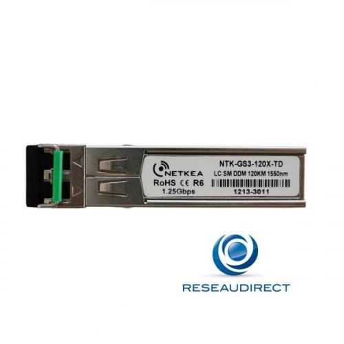 Netkea NTK-GS3-120X-TD Transceiver SFP 1000Base-ZX/ZH Monomode 1550nm 120km 2xLC DOM -40/+85°C