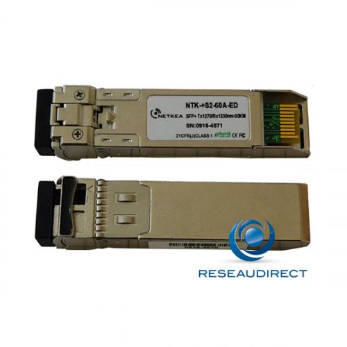 Brocade 10G-SFPP-BXU-60KM Compatible SFP+ BIDI 10GBase-BXU 10Gb/s Monomode Tx1270nm 60km 1xLC DOM -40/+85°C