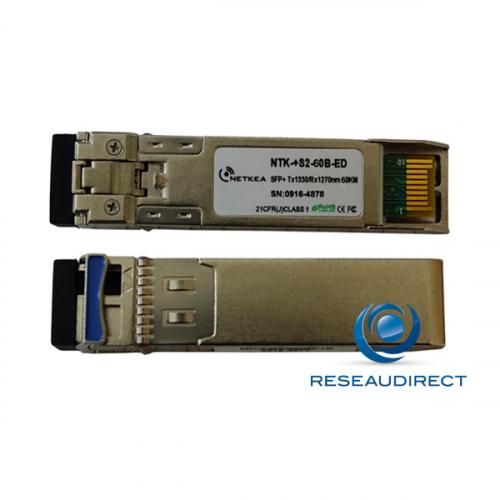 Brocade 10G-SFPP-BXD-60KM Compatible SFP+ BIDI 10GBase-BXD 10Gb/s Monomode Tx1330nm 60km 1xLC DOM -40/+85°C