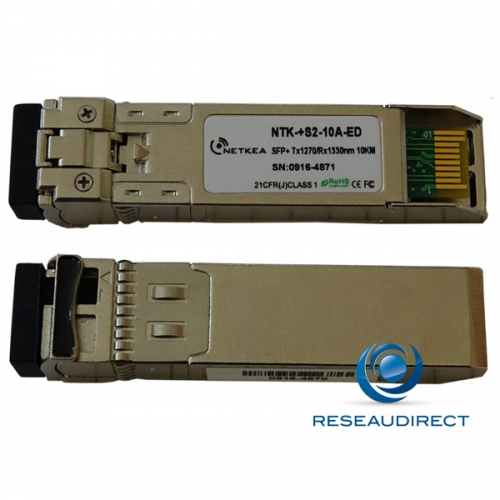 Brocade 10G-SFPP-BXU-10KM Compatible SFP+ BIDI 10GBase-BXD 10Gb/s Monomode Tx1270nm 10km 1xLC DOM -40/+85°C