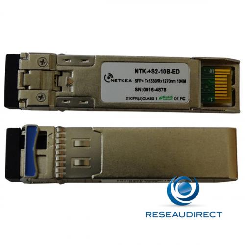 Brocade 10G-SFPP-BXD-10KM Compatible SFP+ BIDI 10GBase-BXD 10Gb/s Monomode Tx1330nm 10km 1xLC DOM -40/+85°C