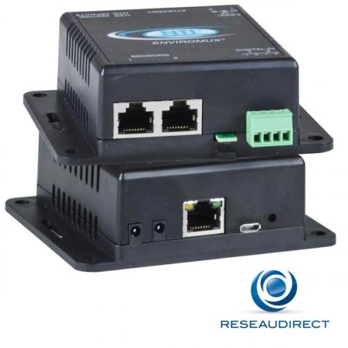 NTI micro boitier de monitoring environnemental sur IP Température 2 ports capteurs 2xDI 2 alim Promo 2 pièces