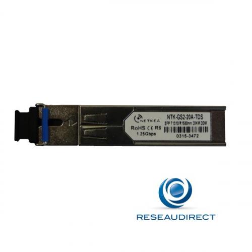 Netkea DRT-GS2-20A-TDS transceiver SFP BIDI-WDM Draytek Freebox Gigabit Mono-mode Tx1310nm/Rx1550nm 20 Km 1xSC DDMI