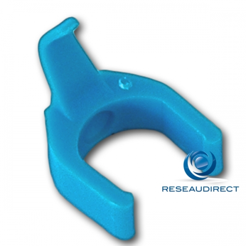 Patchsee Patchclip BC/PC Clip de repérage complémentaire Bleu Clair pour Cordon RJ 45 lumineux Boite de 50