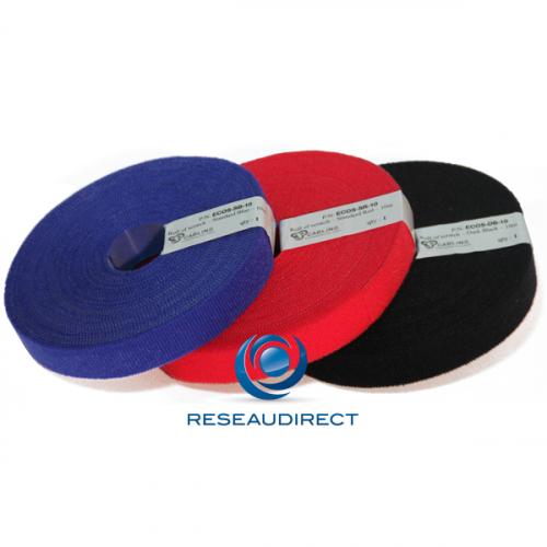 Patchsee ECO-SCRATCH ECO-DB-10 Attache-câbles auto-agrippant type Velcro en rouleau économique couleur Noire lg=10m