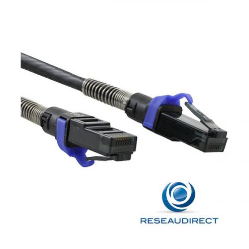 Patchsee PTC30506AF00X6 câble RJ45 Cat6a UTP PCI6-U/2 Cordon patch lumineux 10Giga non blindé Catégorie 6A 500Mhz 0.60m