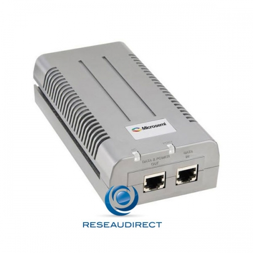 Microsemi PD-9501G/48VDC Injecteur HI-POE 1 port Giga RJ45 4Paires 60 watts Midspan POE++ 802.3 at mono-port 48VDC