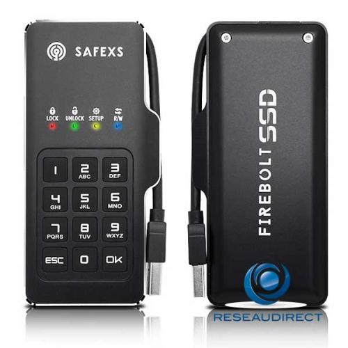 SafeXs Firebolt 128Go Disque mobile Flash USB3 Apple Android Windows sécurisé Kit d'évaluation