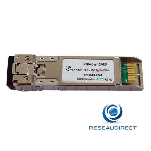Netkea NTK-+C27-10X-ED transceiver SFP+ CWDM 10Gb/s Mono-mode 1270nm 8.4dB 10km 2xLC DDMI -40/+85°C