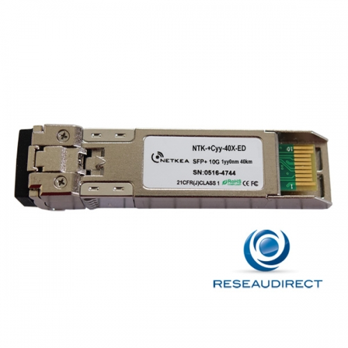 Netkea NTK-+C27-40X-ED transceiver SFP+ CWDM 10Gb/s Mono-mode 1270nm 14dB 40km 2xLC DDMI -40/+85°C