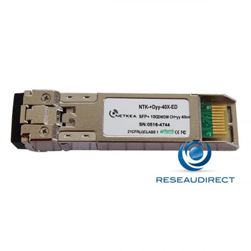 Netkea NTK-+D21-40X-ED SFP+ DWDM Canal 21 10Gb/s Mono-mode Fréquence 192.1Thz 1560,61nm 13dB 40km 2xLC DDMI -40/+85°C