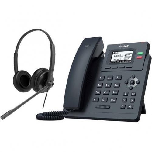 Bundle promo téléphone T31G + casque HS34 Stéréo