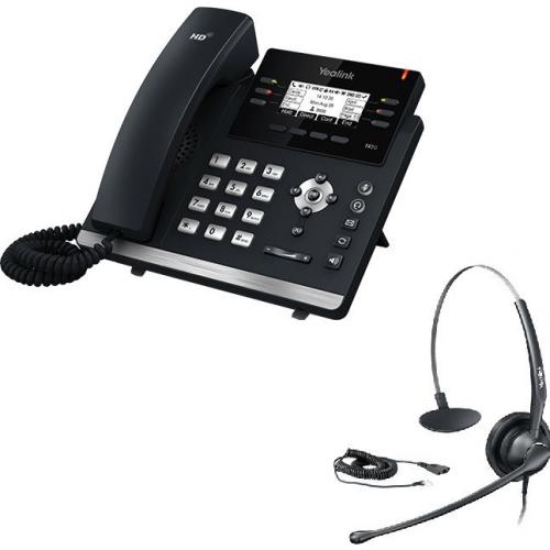 Pack promo Téléphone SIP T42S + casque HS33