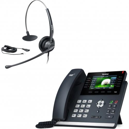 Pack promo Téléphone SIP T46S + casque HS33