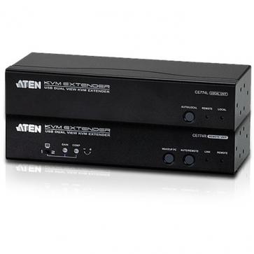 Console extender Cat 5 USB Dual View VGA audio
