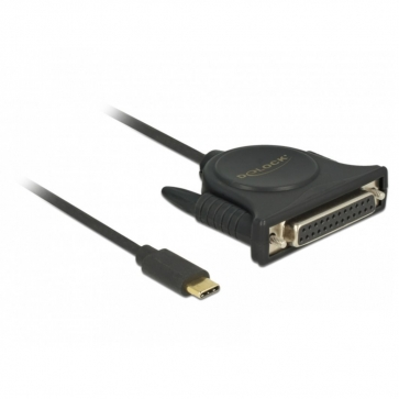 Adaptateur USB Type C parallèle 1 port DB25F 1.8m