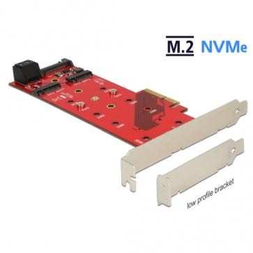 Carte PCI express 4x vers 2X M.2 NVMe Dual Profile