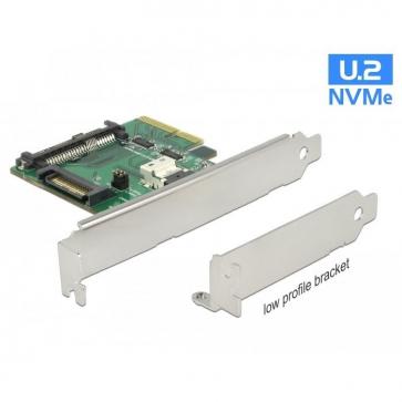 Carte PCIe U.2 NVMe SFF-8654 4i +SFF-8639 Dual Pr.
