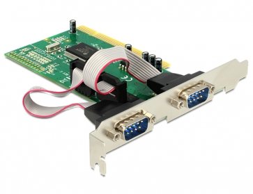 Delock PCI-2S Carte série PCI 2 ports RS232 DB9