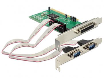 Delock PCI-2S1P Carte PCI 2 série 1 parallèle