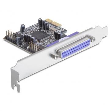 Delock PCIE-2S1PD Carte PCI Express 2 série 1 parallèle Dual Profile